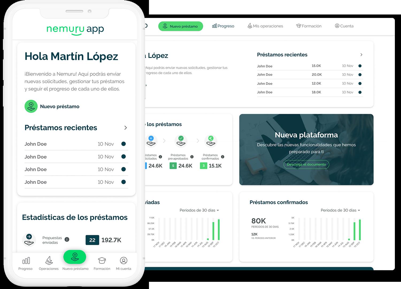 Nemuru - Nemuru gestiona<br/>la financiacion por ti
